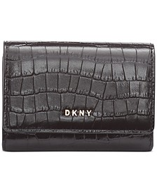 DKNY Bryant Croc Leather Card Case, Created for Macy's
