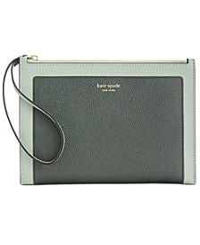 Margaux Pebble Leather Wristlet