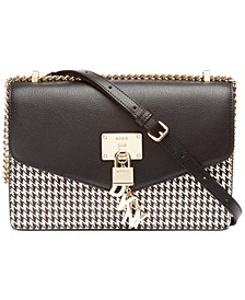 Elissa Leather Houndtooth Shoulder Flap, Created for Macy's