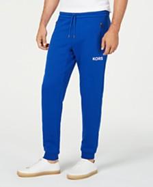 Michael Kors Men's Logo Fleece Joggers, Created for Macy's
