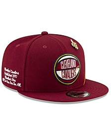 Big Boys Cleveland Cavaliers 2019 On-Court Collection 9FIFTY Snapback Cap