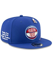 New Era Big Boys Philadelphia 76ers 2019 On-Court Collection 9FIFTY Snapback Cap