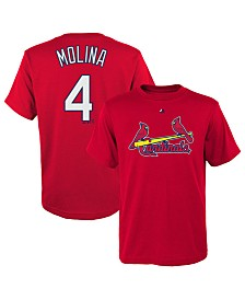 Majestic Men's Yadier Molina St. Louis Cardinals Official Player T-Shirt