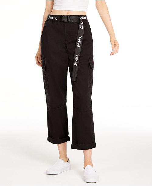 Dickies Belted Cargo Capri Pants