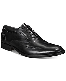 Men's Leather Abie Wingtip-Toe Oxfords, Created for Macy's