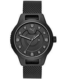 Men's Reset Stainless Steel Mesh Braclet Watch 44mm