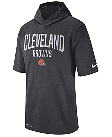 Nike Men's Cleveland Browns Dri-FIT Training Hooded T-Shirt