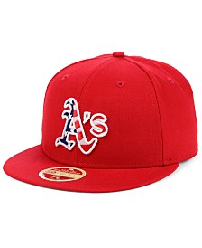 New Era Oakland Athletics Retro 2009 Stars and Stripes 59FIFTY Fitted Cap