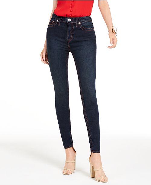 True Religion Halle Contrast-Stitch Skinny Jeans