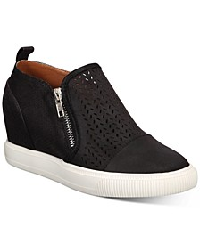 Krissa Perforated Wedge Sneakers