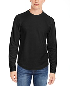 Men's Linear Textured Long-Sleeve T-Shirt