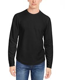 GUESS Men's Linear Textured Long-Sleeve T-Shirt