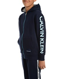 Calvin Klein Jeans Big Boys Oversized Logo Fleece Hoodie
