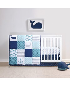 Belle Nautical 4-Piece Crib Bedding Set