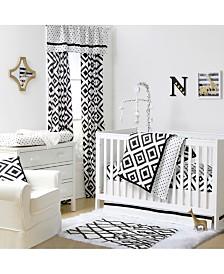 The Peanutshell Deco Diamond 3-Piece Crib Bedding Set