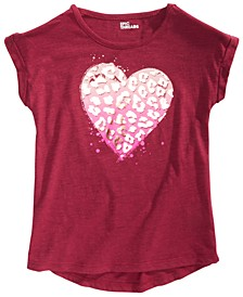 Big Girls Animal Heart T-Shirt, Created for Macy's