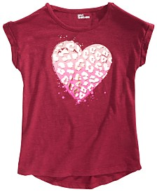 Epic Threads Big Girls Animal Heart T-Shirt, Created for Macy's