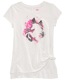 Big Girls Unicorn Side Tie T-Shirt, Created for Macy's