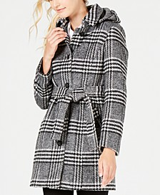 Hooded Belted Coat, Created For Macy's