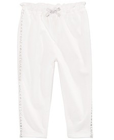 Baby Girls Love-Print Cotton French Terry Pants, Created for Macy's