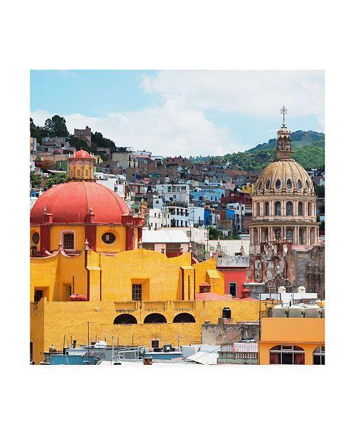"Trademark Global Philippe Hugonnard Viva Mexico 3 Guanajuato Church Domes Canvas Art - 36.5"" x 48"""