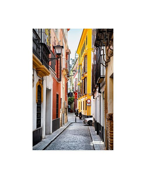 "Trademark Global Philippe Hugonnard Made in Spain Colourful Street of Seville Canvas Art - 36.5"" x 48"""