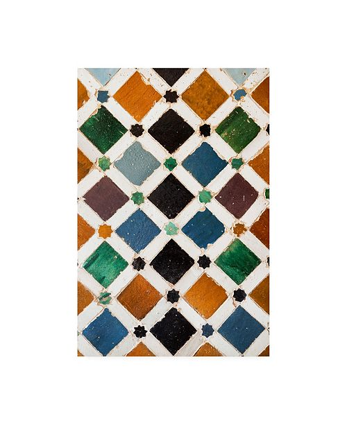 "Trademark Global Philippe Hugonnard Made in Spain Alhambra Mosaic Canvas Art - 19.5"" x 26"""