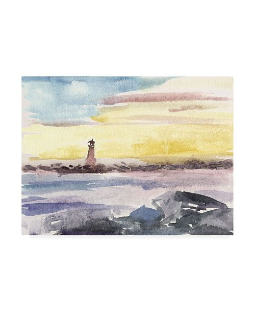"Trademark Global Melissa Wang Watercolor Views II Canvas Art - 27"" x 33.5"""