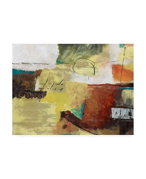 """Trademark Global Pablo Esteban Red Yellow with Scratches Canvas Art - 27"""" x 33.5"""""""