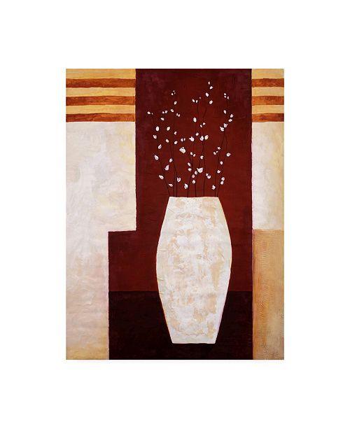 "Trademark Global Pablo Esteban Thick White Vase and Flowers Canvas Art - 36.5"" x 48"""