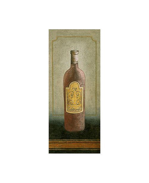 "Trademark Global Pablo Esteban A Bottle of Cabernet Wine Canvas Art - 15.5"" x 21"""