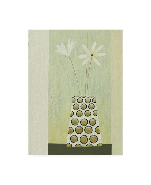 "Trademark Global Pablo Esteban Flowers in a Beveled Vase Canvas Art - 27"" x 33.5"""