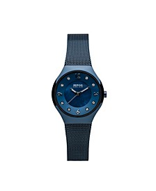 Ladies' Slim Solar Stainless Steel Mesh Watch