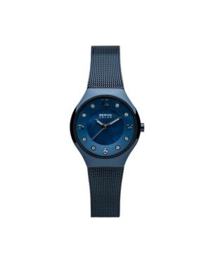 Bering Ladies' Slim Solar Stainless Steel Mesh Watch