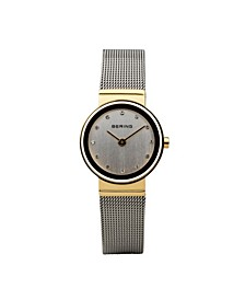 Ladies Classic Two-Tone Stainless Steel Mesh Watch