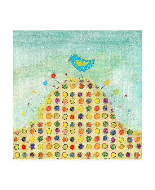 """Trademark Global Ingrid Blixt Feathers, Dots and Stripes XIII Childrens Art Canvas Art - 36.5"""" x 48"""""""