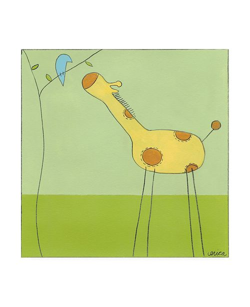 "Trademark Global June Erica Vess Stick leg Giraffe II Childrens Art Canvas Art - 15.5"" x 21"""