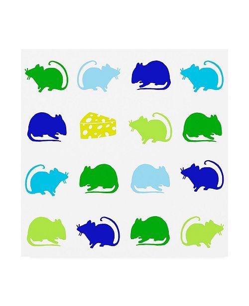 "Trademark Global Chariklia Zarris Animal Sudoku in Blue V Childrens Art Canvas Art - 15.5"" x 21"""