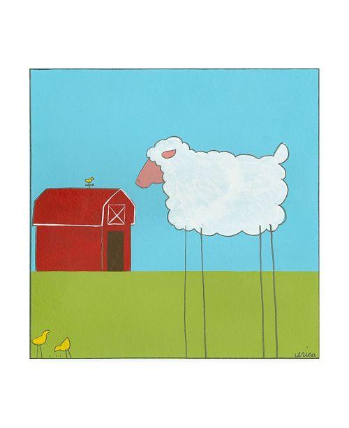 """Trademark Global June Erica Vess Stick leg Sheep II Childrens Art Canvas Art - 36.5"""" x 48"""""""