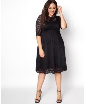Kiyonna Women's Plus Size Lacey Cocktail Dress