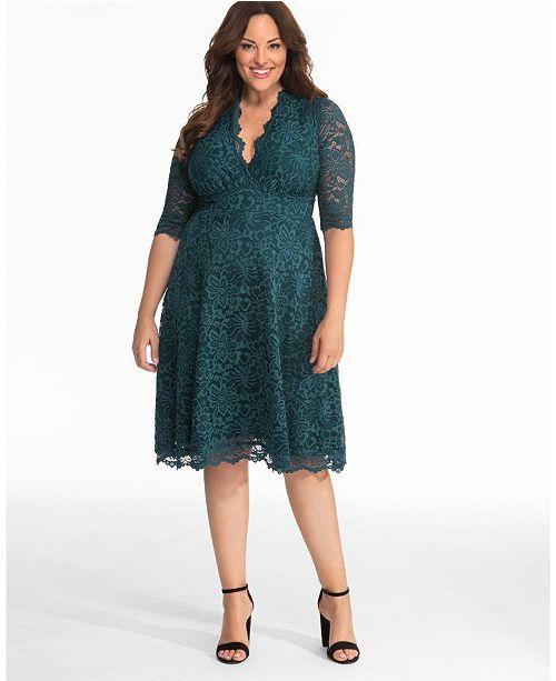 Women\'s Plus Size Mademoiselle Lace Dress