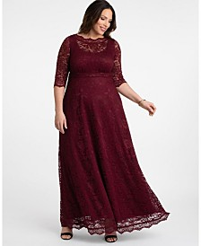 Kiyonna Women's Plus Size Leona Lace Gown