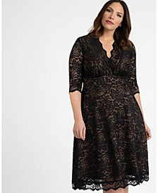 Women's Plus Size Mademoiselle Lace Dress