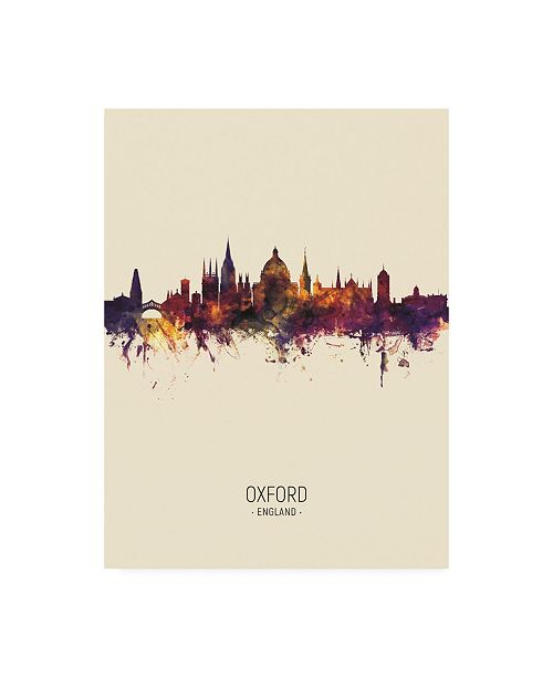 "Trademark Global Michael Tompsett Oxford England Skyline Portrait III Canvas Art - 19.5"" x 26"""