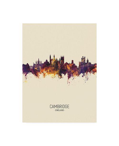 "Trademark Global Michael Tompsett Cambridge England Skyline Portrait III Canvas Art - 36.5"" x 48"""