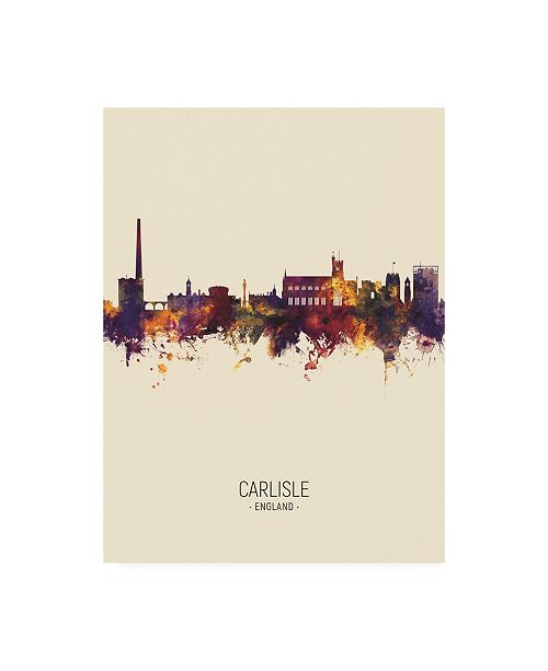 "Trademark Global Michael Tompsett Carlisle England Skyline Portrait III Canvas Art - 15.5"" x 21"""