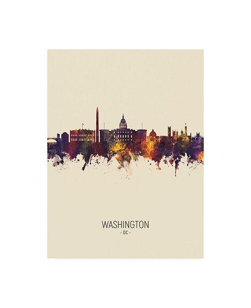 "Trademark Global Michael Tompsett Washington DC Skyline Portrait III Canvas Art - 36.5"" x 48"""