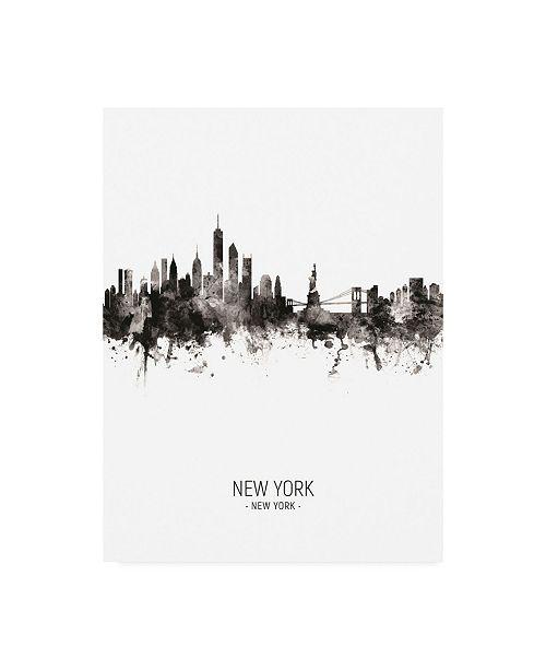 "Trademark Global Michael Tompsett New York Skyline Portrait II Canvas Art - 15.5"" x 21"""