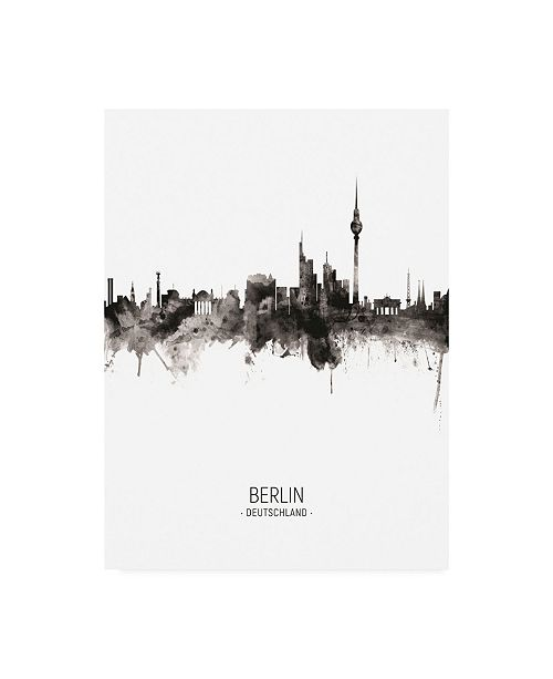 "Trademark Global Michael Tompsett Berlin Germany Skyline Portrait II Canvas Art - 36.5"" x 48"""
