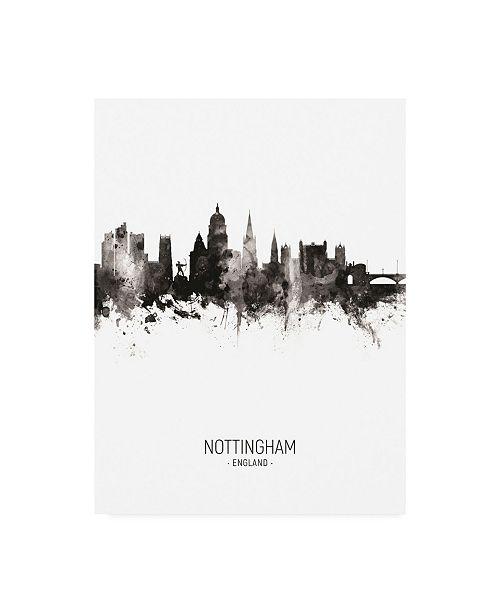 "Trademark Global Michael Tompsett Nottingham England Skyline Portrait II Canvas Art - 36.5"" x 48"""